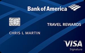 25,000 Online Bonus Points OfferBank of America? Travel Rewards credit card