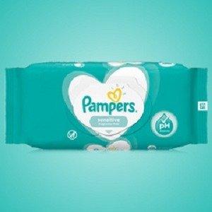 260片仅€4.13 本周买5付4Pampers 帮宝适宝宝湿巾 质地轻柔 清新味道 面部、全身都能用