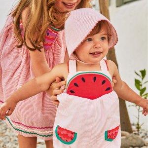 限时8折 满额包邮包退折扣升级:Mini Boden官网 超高颜值儿童夏季服饰热卖