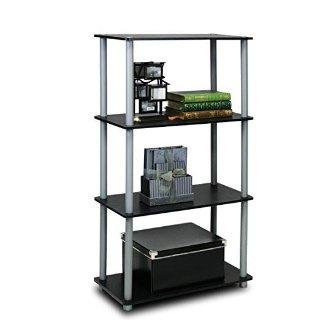 $17.00(原价$59.99)Furinno 开放式4层多功能置物架