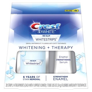 Crest 3D White Whitestrips Whitening + Therapy Teeth Whitening Kit, 14 Treatments