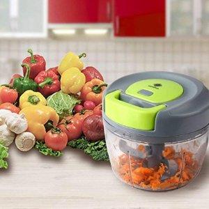 轻松将食物处理省时高效Kalokelvin  食物粉碎手动处理器 切菜机750ml容量 仅售 € 13,99