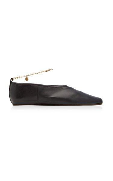 链条平底鞋
