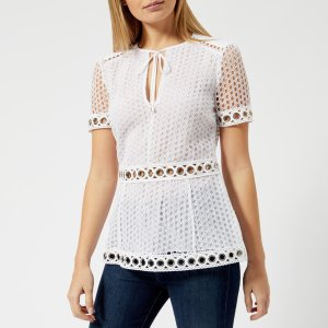 Michael KorsWomen's Lace Combo Top - White