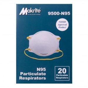 Buy Bulk NIOSH Certified Makrite 9500-N95 Pre-Formed Cone Particulate Respirator Mask
