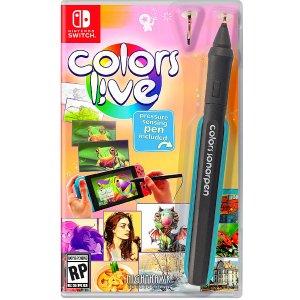 $49.99 再送压感笔新品预告:《Colors Live》NS 实体版, 是游戏机也是绘画板