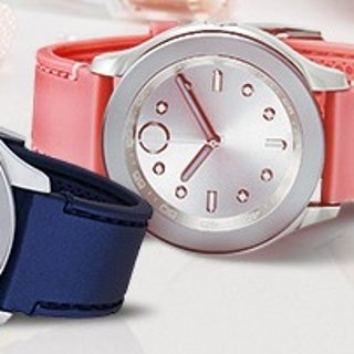 Extra $20 OffMOVADO Bold Silver Dial Pink Silicone Ladies Watch