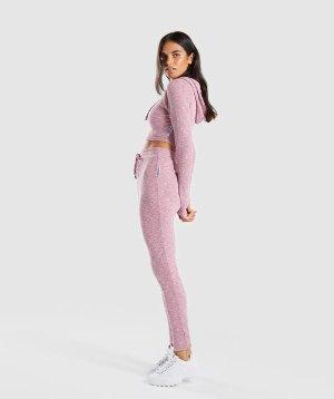 Gymshark Slounge Leggings - Dusky Pink Marl | Bottoms & Leggings | Gymshark