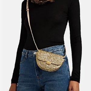 WandlerAnna Small Glitter Leather Belt Bag