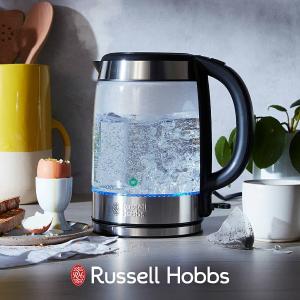 折后€35.38 原价€49.99Russell Hobbs 滤水+烧水一体壶 泡茶/泡咖啡必备!提升美味