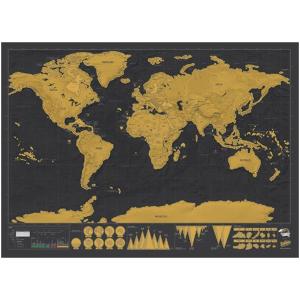$16.99 (原价$19.99)手慢无:ASDOMO 可刮世界地图 记录旅行足迹