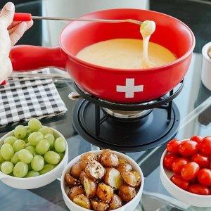 6折起 $29.99起吃新鲜口感奶酪火锅套装热卖 宅家体验瑞士火锅吃法 蘸甜甜巧克力也可