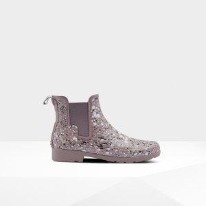 Hunter香芋紫雨靴