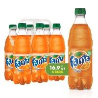 橙汁味芬达饮料 16.9oz, 6瓶