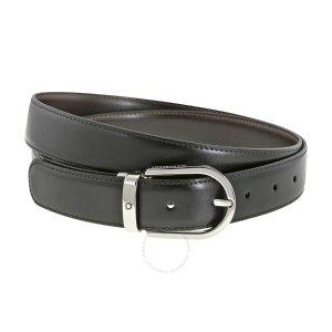 MontblancReversible Black/Brown Leather Belt 38157