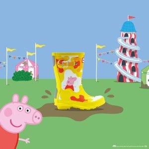 $55起包邮上新:Hunter官网 儿童 Peppa Pig 雨靴、书包上市