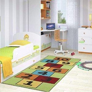 Ottomanson CG1235-3X6 Children's Garden Collection Educational Hopscotch Design, 2'7