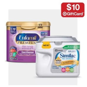 Free $10 Gift CardWhen You Buy 3 Formula Tubs @ Target
