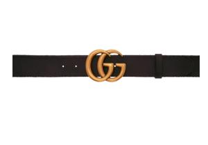 Gucci: Black GG Toscano Belt | SSENSE Canada