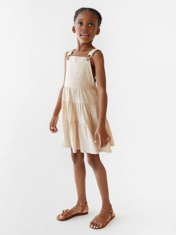女童背带连衣裙