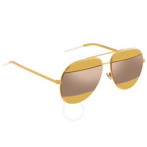 DIOR Gold Orange Aviator Unisex Sunglasses
