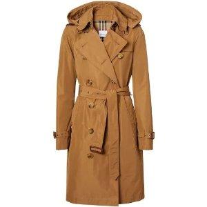 Burberry风衣 hood taffeta trench coat | Burberry | Eraldo.com