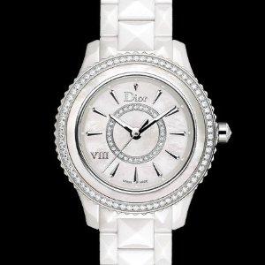 额外减$600 $2850+包邮DIOR VIII 珍珠母贝镶钻陶瓷奢华女表