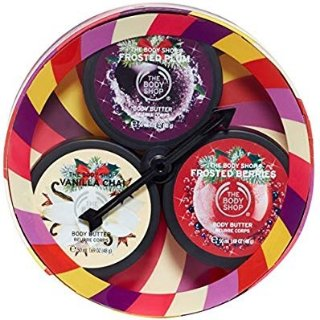 The Body Shop Limited Edition Seasonal Body Butters Trio Spinner Gift Set, 3pc Set of Travel Size Assorted Body Butters @ Amazon