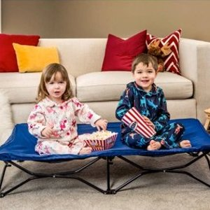 Walmart Regalo My Cot Portable Toddler Bed, Includes Fitted Sheet and Travel Case, Royal Blue