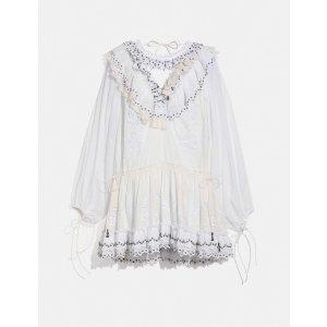 CoachRomantic Mini Dress With Stud Embellishments