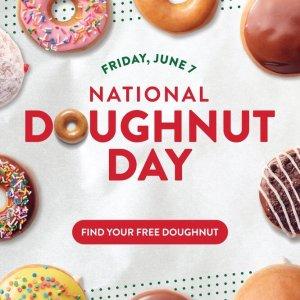 Free DoughnutNational Dought Day @ Krispy Kreme
