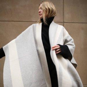 3折起 蓝色羊绒围巾€127JOSEPH 英国轻奢小众品牌闪促 将极简主义进行到底