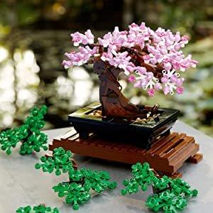 折后仅€41.99 禅意其中LEGO 10281 花朵系列之盆景 绿叶粉花随心变 今年爆款