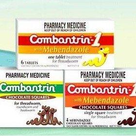 满减AU$15+包税直邮中国Combantrin  儿童打打蛔虫巧克力   ¥89收巧克力味24块