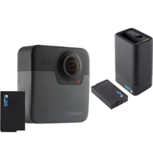 史低价:GoPro Fusion 360度全景相机 + 电池 + 座充