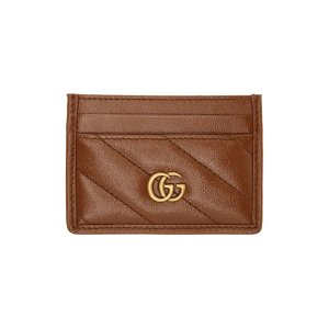 GucciBrown Diagonal GG Marmont 2.0 卡包