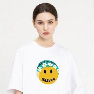 低至4折 €48收封面款新品上市:Graver 笑脸潮牌 小众不撞衫 很有个性的设计 超适合春夏
