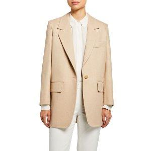WEEKEND MaxMaraMaxmaraEdipo Camel Wool-Cashmere Jacket
