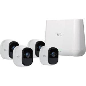 $349.99 (原价$599.99)限今天:Netgear Arlo Pro 室内外无线安防系统 4个摄像头套装
