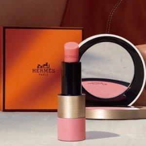 惊天7折 口红、腮红都有Hermes爱马仕 春夏玫瑰限定彩妆上架 奶乎乎桃粉系列