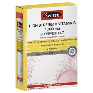 Swisse维C泡腾片 60 Effervescent Tablets