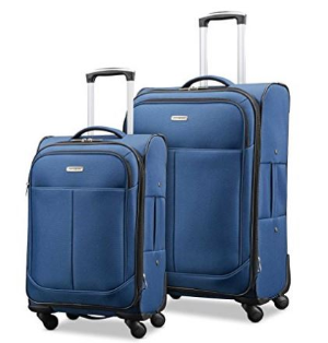 $165.83Samsonite Advance Xlt 蓝色软壳量轻旅行箱2件套(21