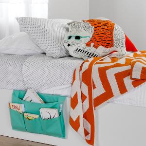$22.98+免邮South Shore Furniture 床头帆布置物袋热卖 省下一个床头柜