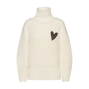 Hugo BossRelaxed-fit sweater in virgin wool with heart motif by boss Pointed-toe court shoes in Italian leather by boss