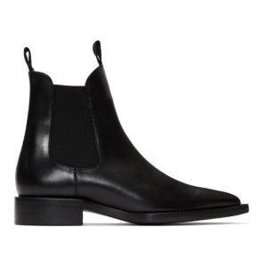 Ami Alexandre Mattiussi尖头切尔西靴