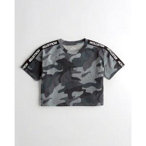 迷彩短T恤