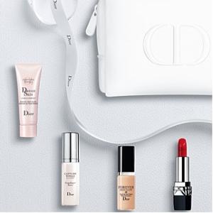 送5件套(价值$100+)Dior 彩妆、护肤满额送礼 赠品含口红#999