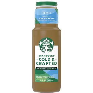 Starbucks Cold & Crafted 香草牛奶口味冷萃咖啡11oz 12瓶