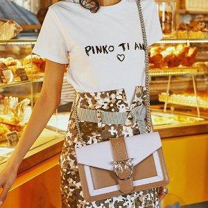 低至4折 收卫衣、小黑裙Pinko 精选燕子包、设计感美衣热卖