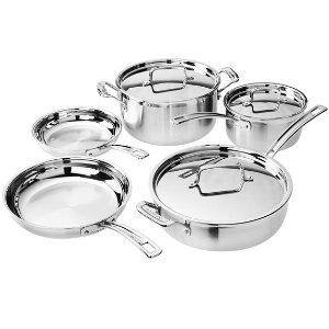 $109.99Cuisinart MultiClad Pro Stainless-Steel Cookware 8-Piece Cookware Set
